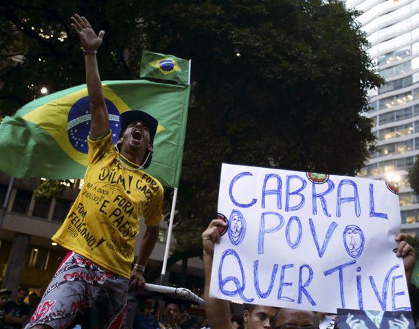 Cabral (el gobernador de Río de Janeiro) el pueblo te quiere ver