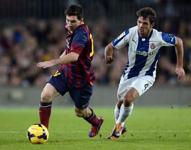 Sin brillar. Messi jugó un partido discreto en el Camp Nou.