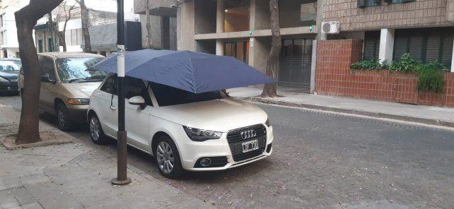 El paraguas para autos