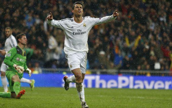 El goleador. Cristiano Ronaldo festeja su 14º gol de la presente temporada.