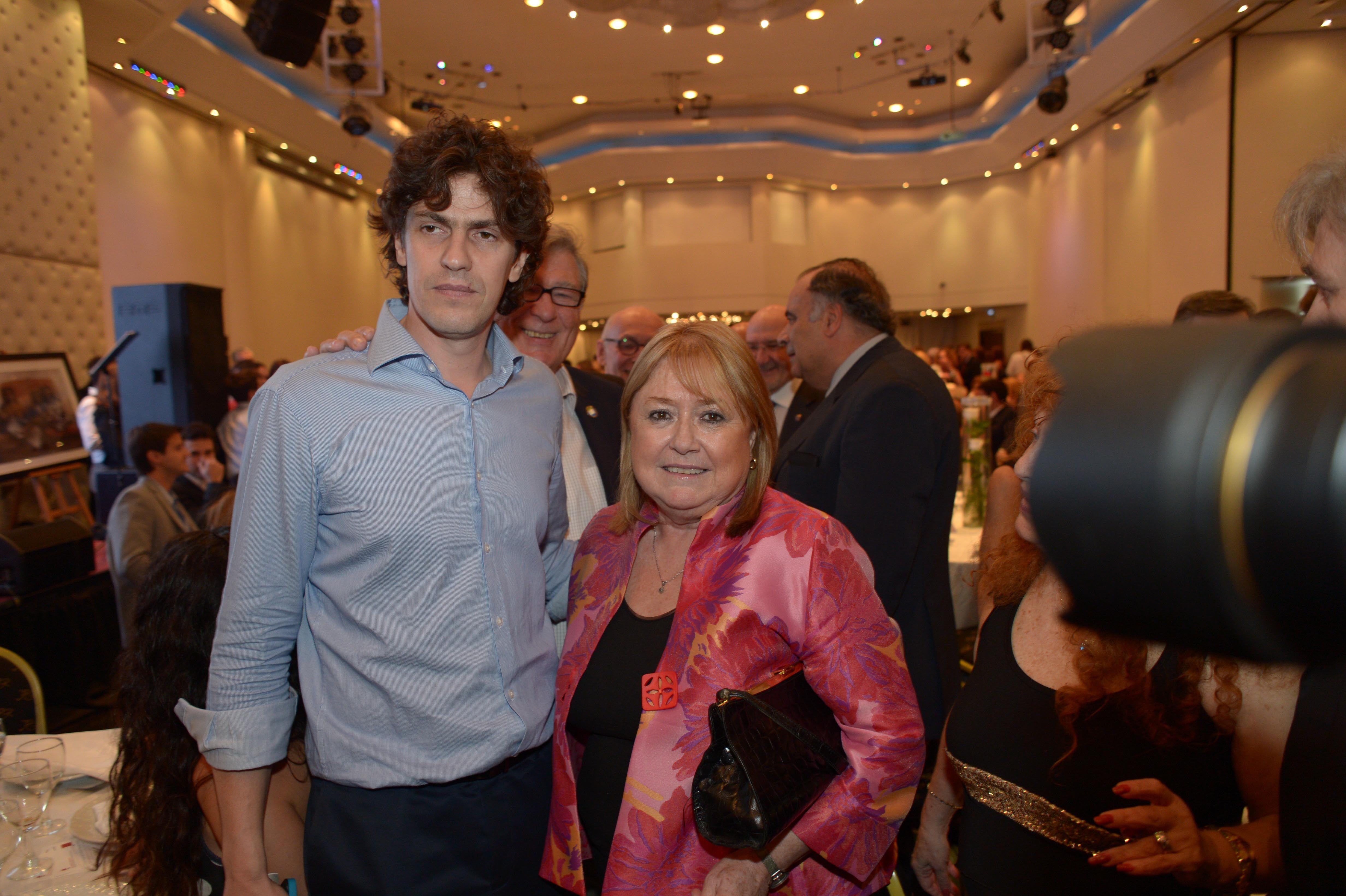 Martín Loustau junto a Susana Malcorra