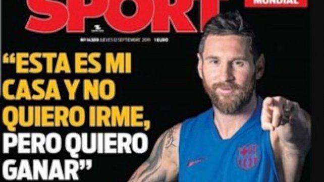 Messi mantuvo una extensa charla con el presidente del Barcelona