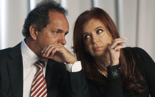 ¿Todo bien?. Scioli dijo que respeta los tiempos de la presidenta y que se reunirán cuando se acerquen las elecciones.