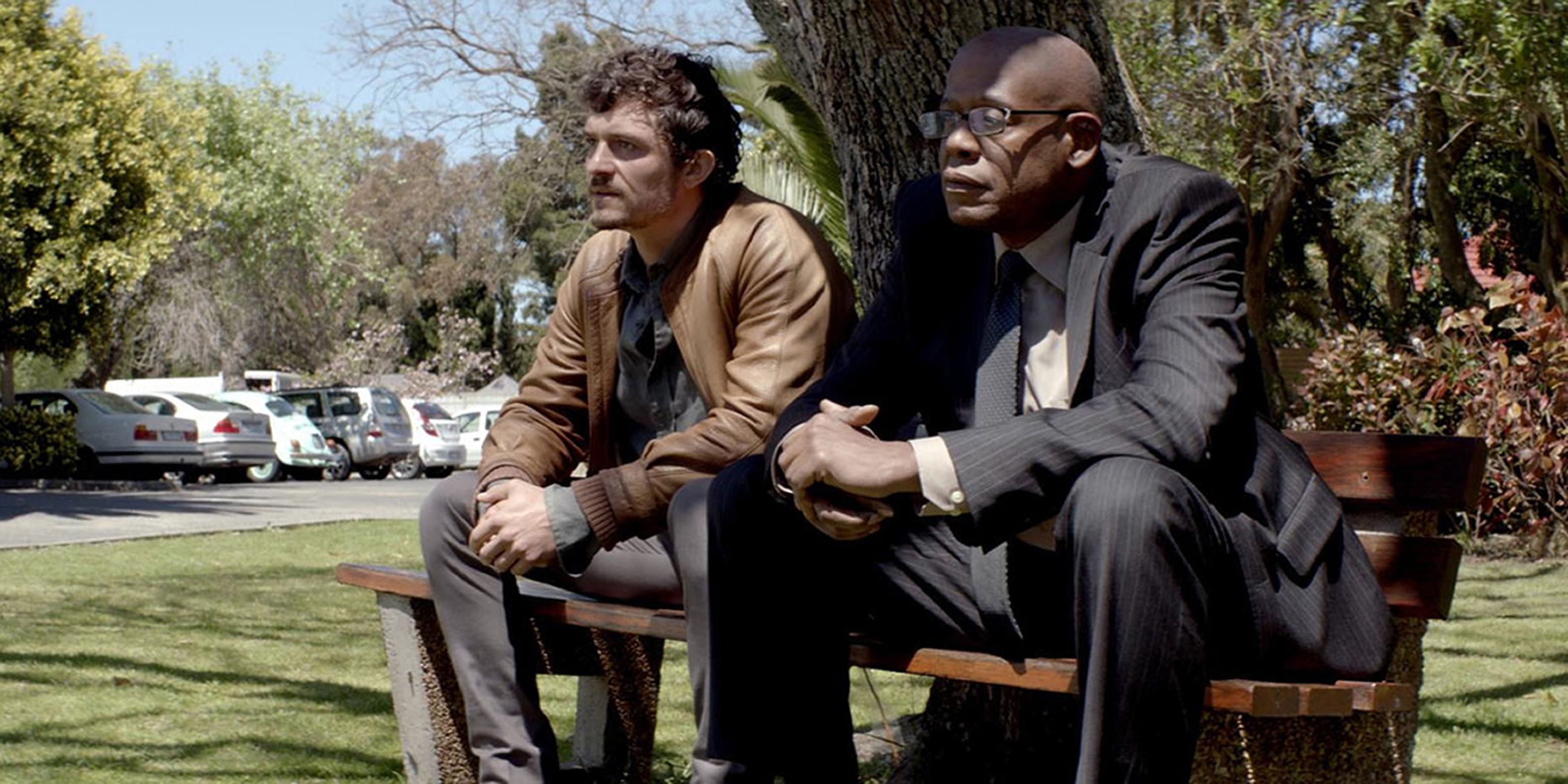 Equipo. Orlando Bloom y Forest Whitaker