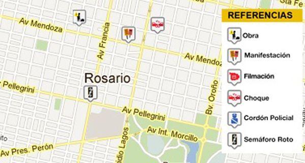 El Concejo aprobó el mapa rosarino de cortes de tránsito