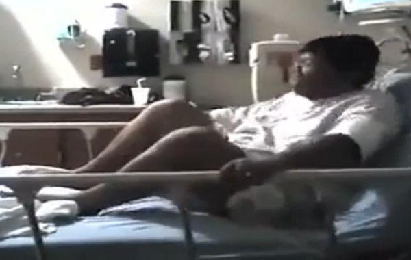 El marido filmó a su mujer en la sala del hospital mientras tenía los orgasmos.