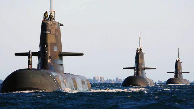 Los submarinos australianos en servicio
