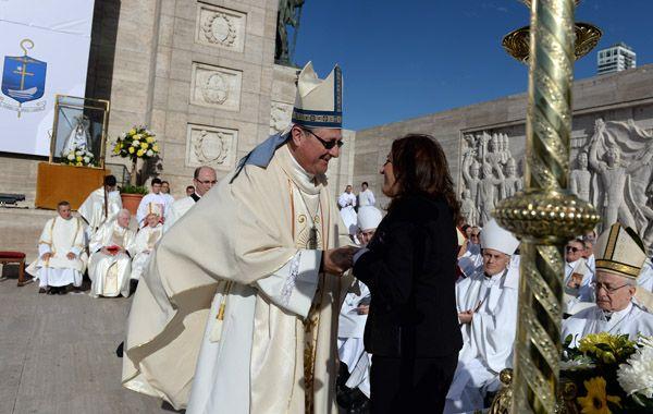 Monseñor Martín en su ceremonia de asunción