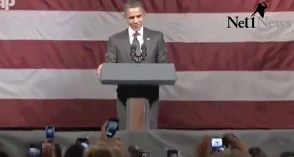Jesucristo es el rey y Obama anticristo, gritó un hombre e interrumpió el discurso del presidente