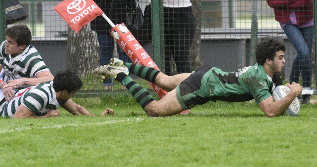 Try. Patricio Rodríguez Vidal anotó el tercero de Duendes en el clásico ante Jockey Club.