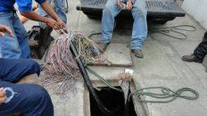 El robo de cables, un dolor de cabeza para usuarios y empresas. Imagen ilustrativa.