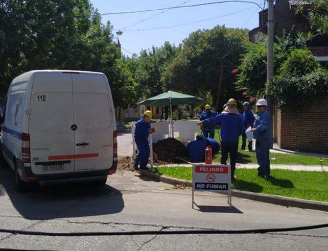 Alerta por un escape de gas en obra en construcción