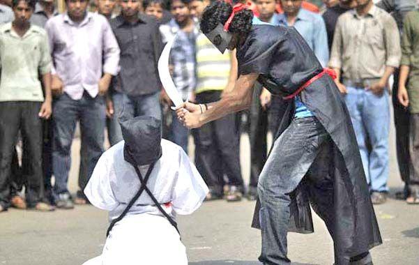 Medieval. Imagen clandestina tomada en una anterior ola de ejecuciones en Arabia Saudita.