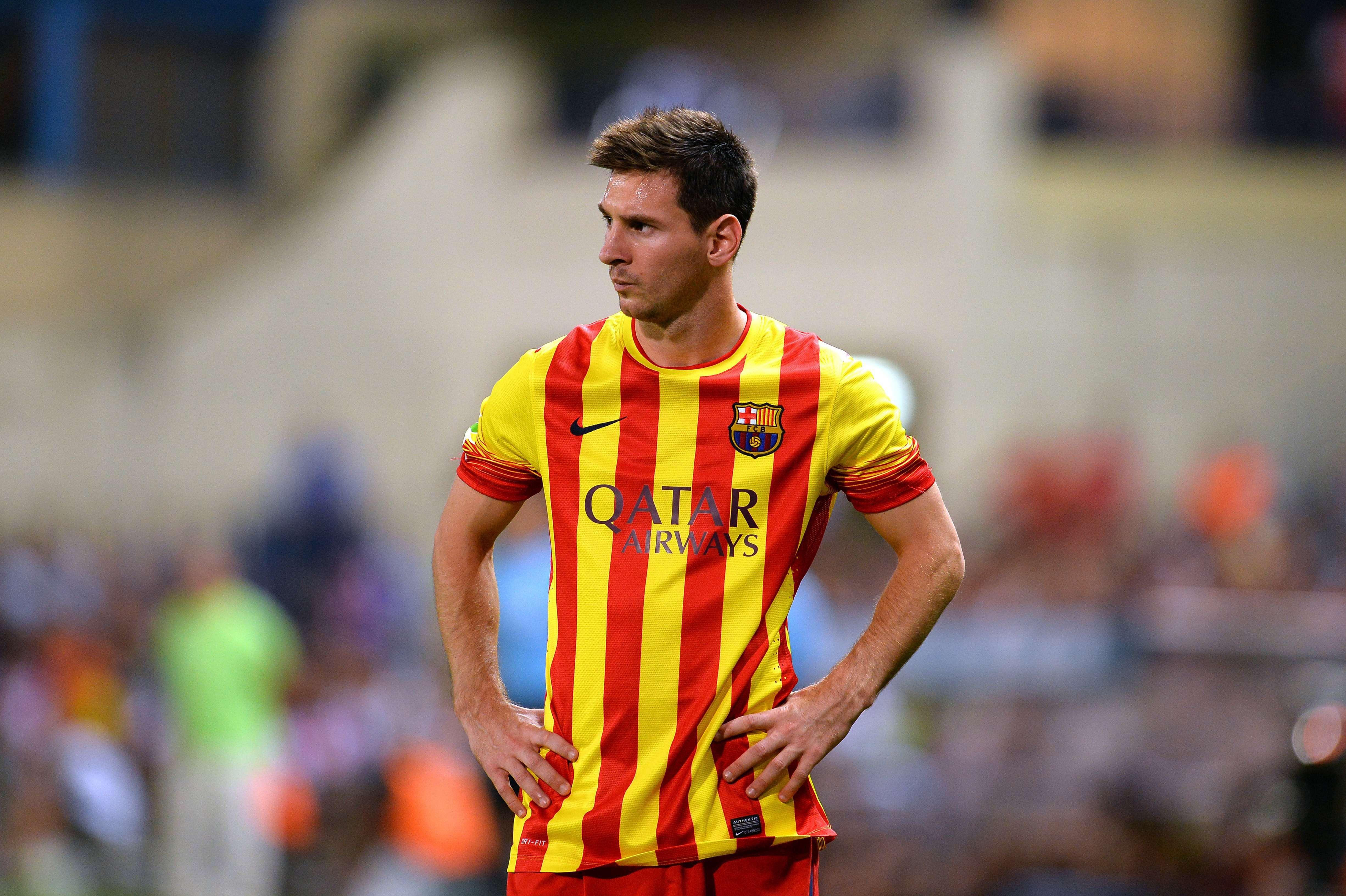 Messi fue reemplazado en el segundo tiempo del partido ante Levante.