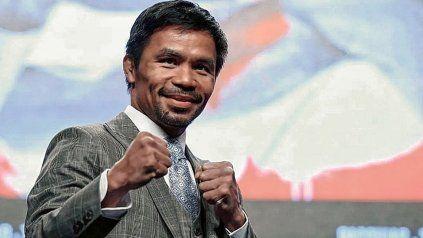La leyenda del boxeo Manny Pacquiao irá por la presidencia