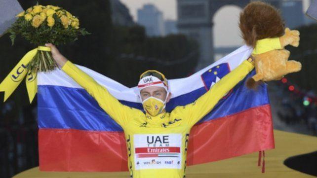 Pogacar es el segundo ganador más joven de la tradicional competencia francesa