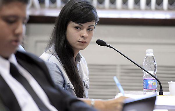 Toda una mirada. Rocío Ayelén Quiroz está acusada de matar a dos chicas en agosto de 2011