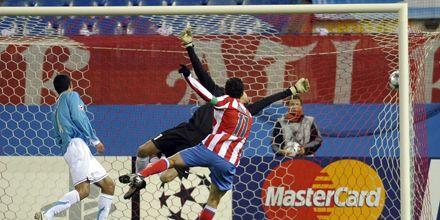 Liga de Campeones:  Maxi Rodríguez marcó un gol en la victoria del Atlético Madrid
