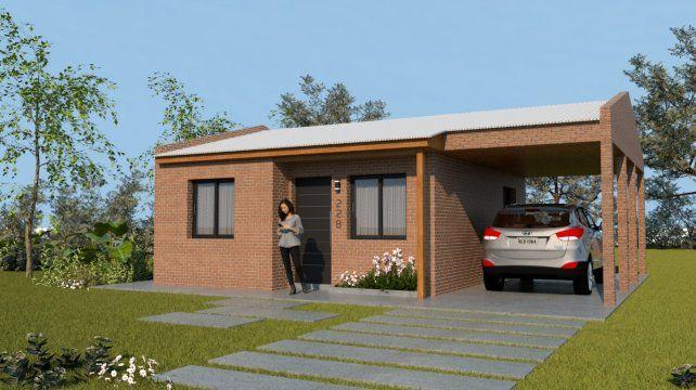 El prototipo de la vivienda de 60 metros cuadrados que se sorteará.