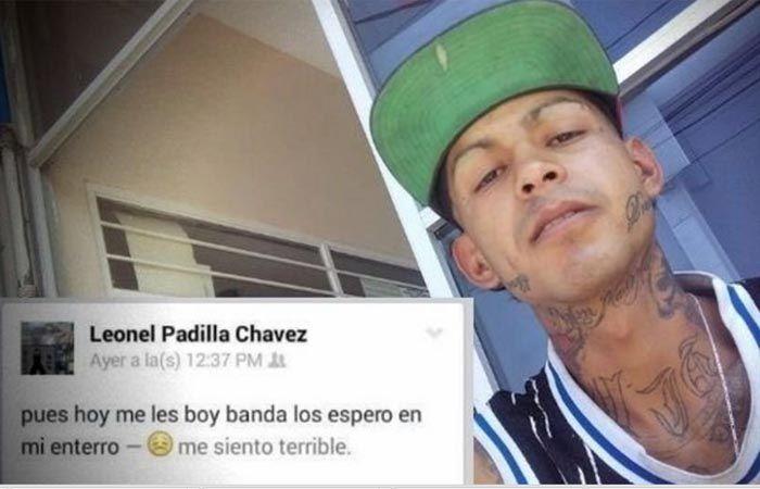 Leonel Padilla Chávez y el mensaje que escribió en su Facebook.
