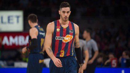 Vildoza, con la camiseta del Baskonia de España.