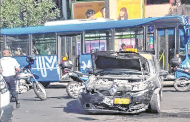 encontronazo. La semana pasada bajó la circulación en Rosario un 65 por ciento