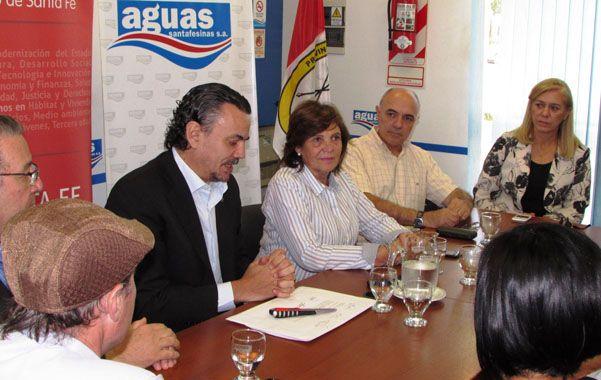 El ministro Galassi y la intendenta Tomei