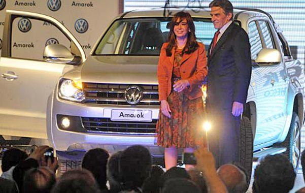 22-12-2009. Cristina Fernández de Kirchner y Viktor Klima en Pacheco.