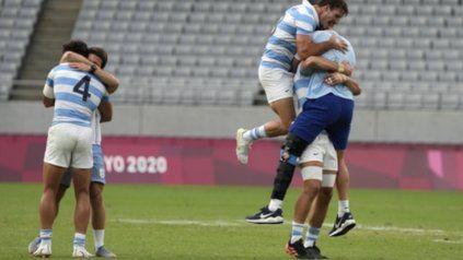 Los Pumas 7 vencieron a Gran Bretaña y levantaron la primera medalla argentina en Tokio 2020.