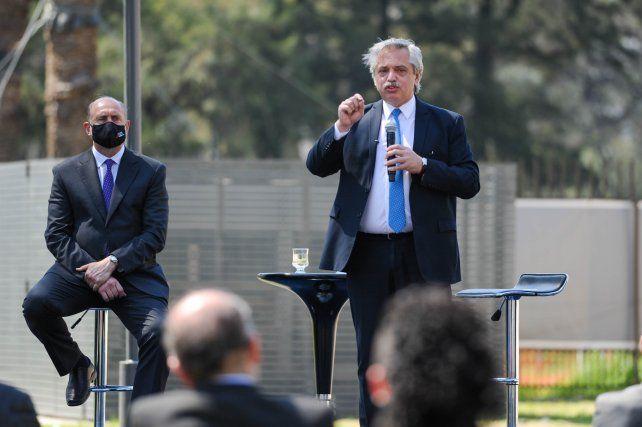 DIVERGENCIAS. Perotti se diferenció de Fernández en medidas que afectan el mundo agropecuario pero también en el manejo de la pandemia.