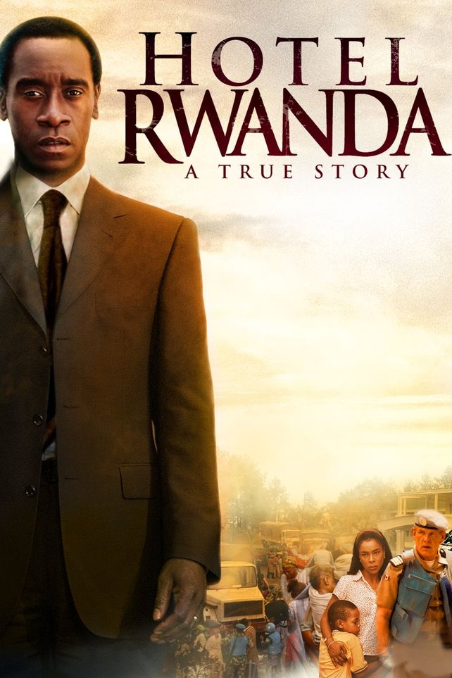 Afiche de la famosa película que recreó la heroica conducta de Paul Rusesagagina.