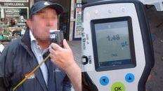Un motociclista manejaba con una cantidad insólita de alcohol en sangre