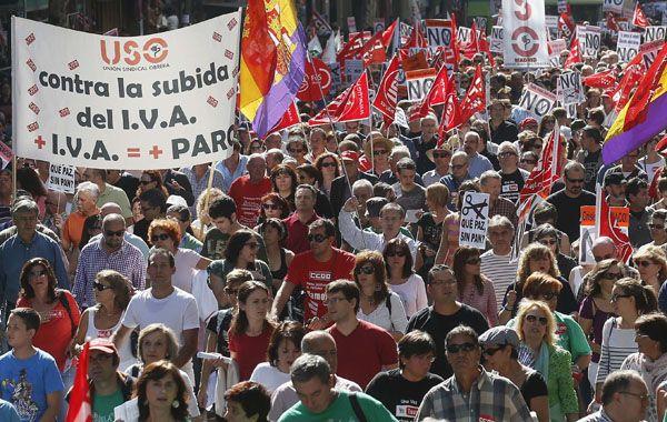 La manifestación central del día fue la de Madrid