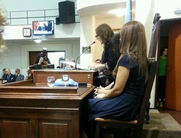 La intendenta abrió hoy la sesiones ordinarias del Concejo Municipal. (Foto:Twitter)