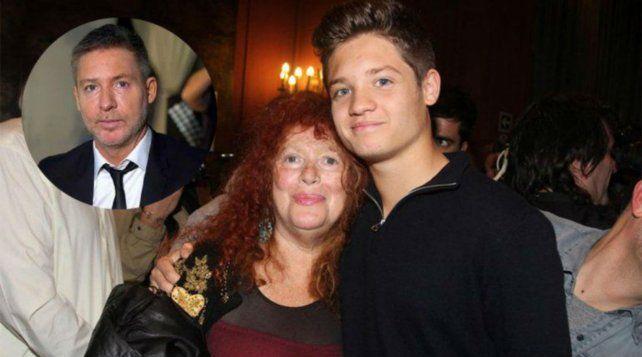 La actriz junto a su nieto Tomás