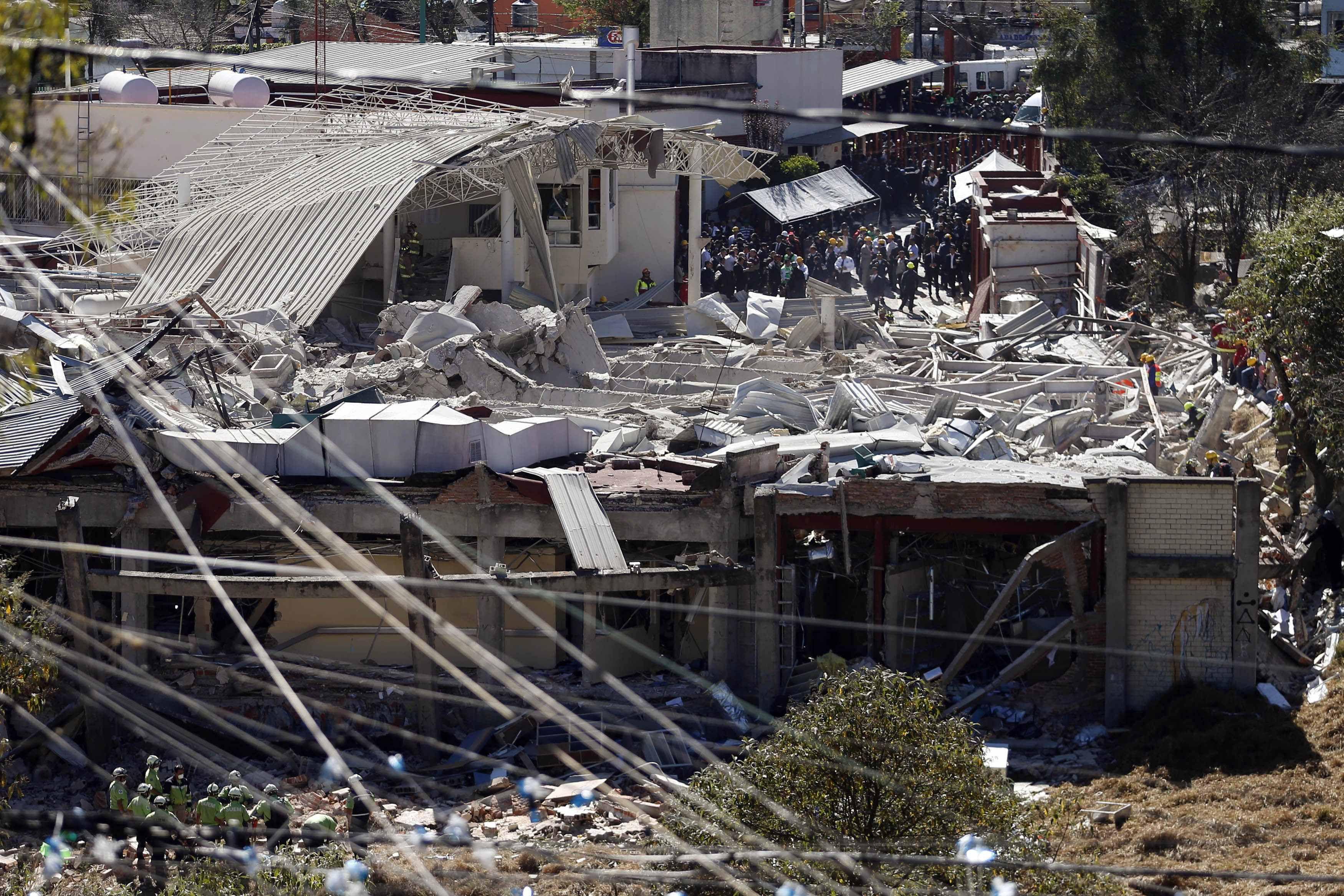 Desastre. El 70% del edificio fue demolido por la deflagración