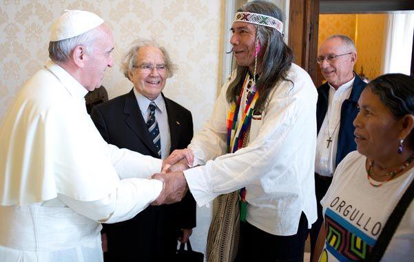 Audiencia. El Papa recibió a Félix Díaz en una reunión de 45 minutos y apoyó los reclamos de los originarios.