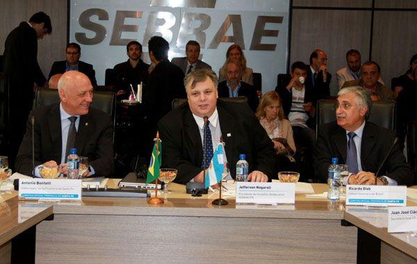 El gobernador y el titular del Sebrae Paraná firmaron un convenio de cooperación e integración entre Santa Fe y el organismo.