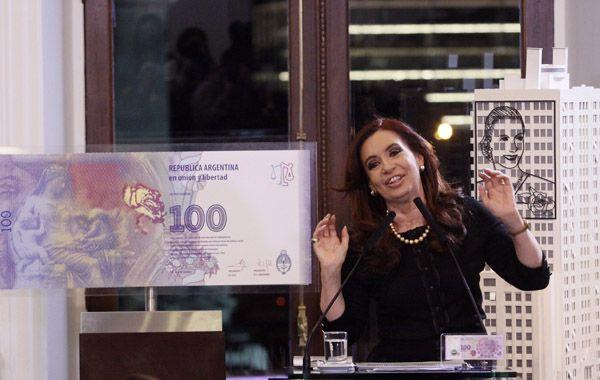 La presidenta presentó en la Casa Rosada el nuevo bilete de cien pesos
