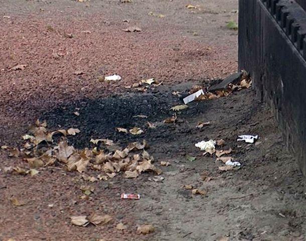El cadáver quedó totalmente calcinado al lado de una subestación eléctrica.