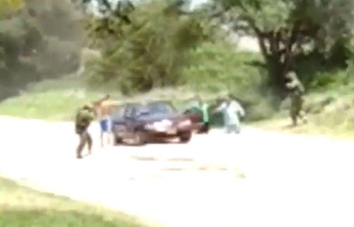 Una de las imágenes capturadas del video que analizan en el Ministerio de Seguridad nacional.