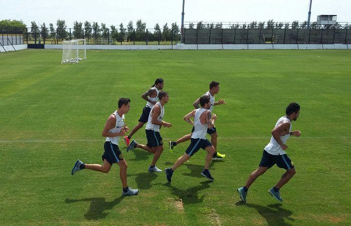 Los jugadores del canalla comenzaron la pretemporada en Arroyo Seco.