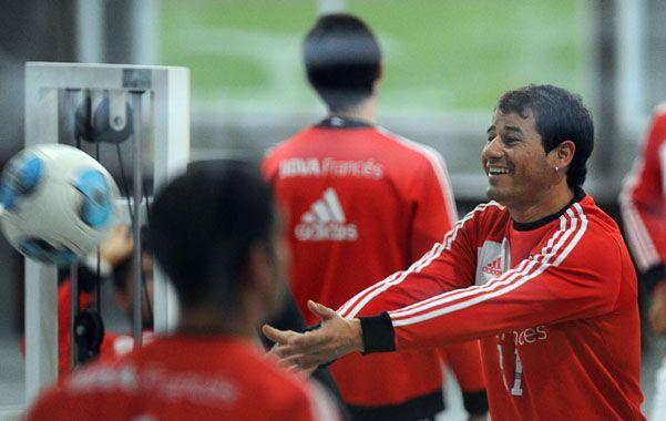 Uruguayo feliz. Mora está contento por haber retornado a River y con la chance de ser titular si llega su habilitación.