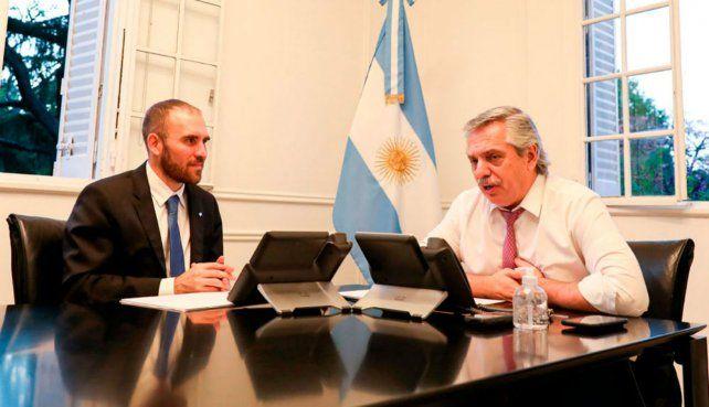 Tándem. Martín Guzmán y Alberto Fernández comandaron la áspera negociación con los bonistas.