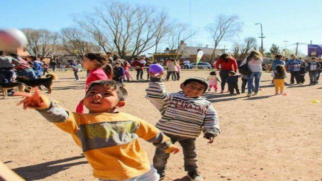 Realizan festejo del Día del Niño en Villa G. Gálvez