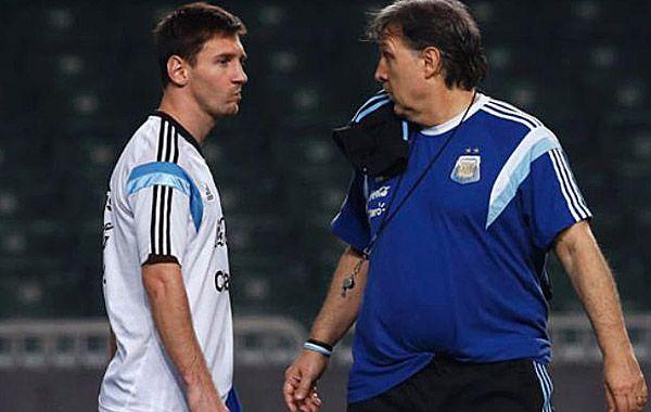 El Tata reconoció el buen nivel que está teniendo Messi en la presente temporada.