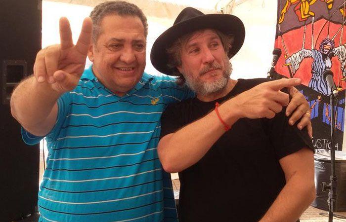 Amado Boudou se presentó en la radio de Luis D´Elía en Plaza de Mayo