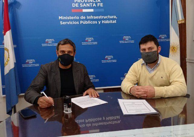 Firmado. El jefe comunal Jorge Massón habló de la anhelada obra.