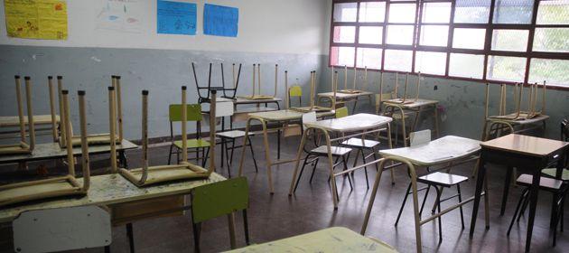 Las aulas estarán vacías este mediodía.