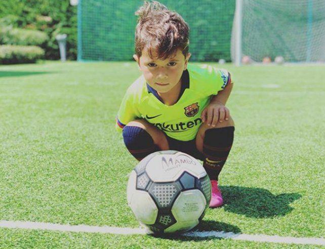 Mateo Messi protagonizó otro video que se volvió viral